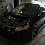 Тюнинг Honda Civic Si без капота, фото моторного отсека